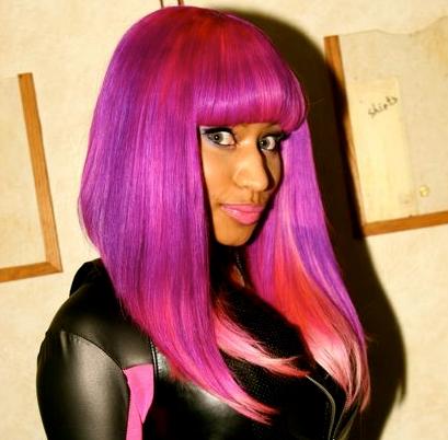 Nicki minaj dark purple hair