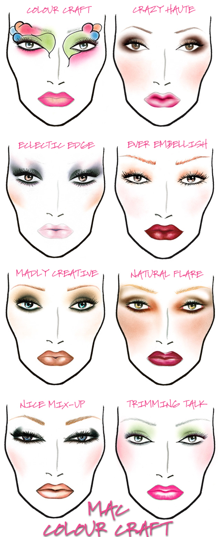 mac face charts pout perfection