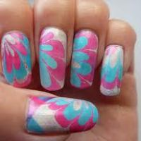 WATER MARBLE NAIL ART - Check it out!