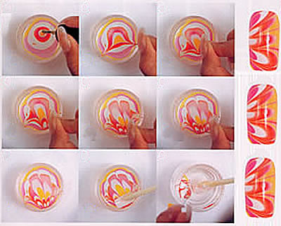 Water Marble Nail Art Check It Out Pout Perfection