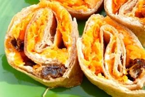 carrot, cream cheese & raisin bites