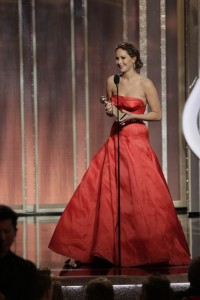 Jennifer Lawrence at the Golden Globes 2013