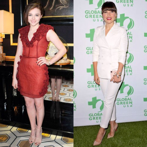 Chloë Moretz and Sophia Bush wearing pieces from the collection