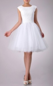 ivoryweddingdress short hemline