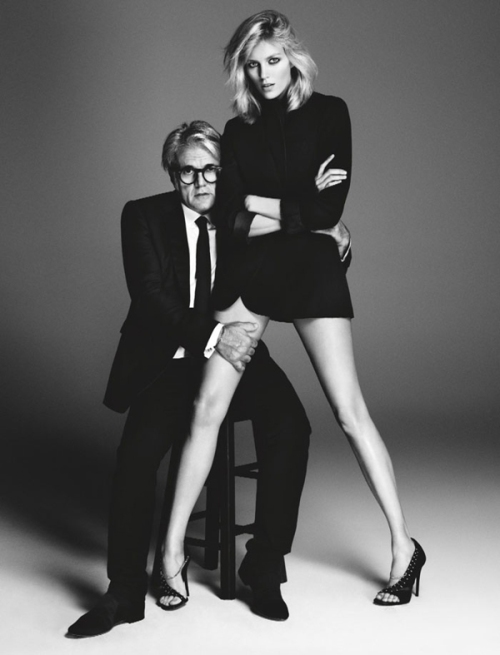 Anja Rubik in an ad campaign for her shoe & accessory line with Giuseppe Zanotti