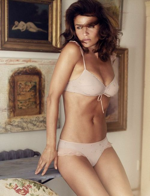 Helena Christensen models her lingerie collection for Triumph