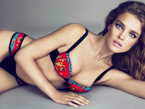 Natalia Vodianova in ad campaign for her Etam lingerie collection