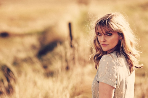 Sophie Dahl models her own collection for Brora