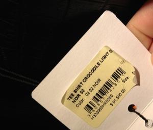 price tag on stupid hermes shirt