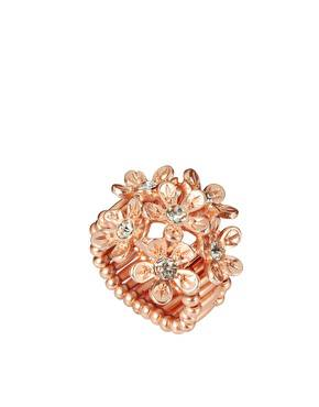 Chunky Rose Gold Floral Stretch Ring : R299