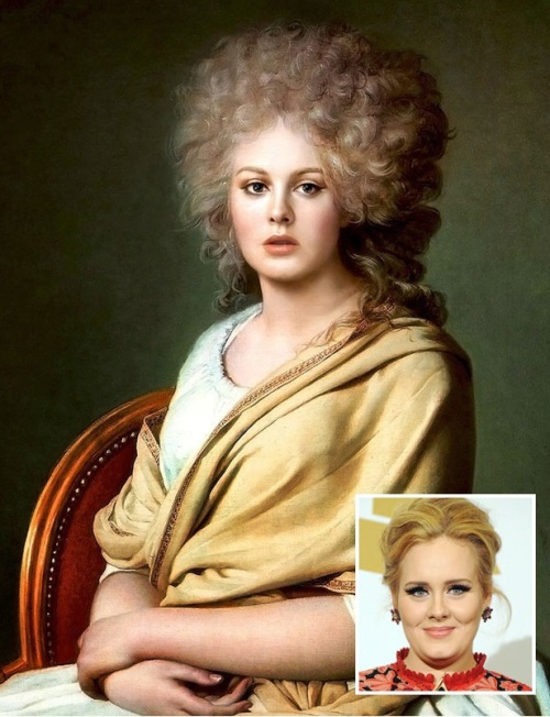 Adele as Anne Marie Louise Thelusson by JL David