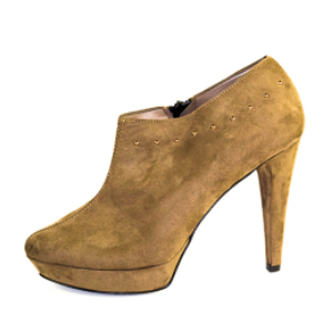 Italian Suede Brown Ankle Boots : R599