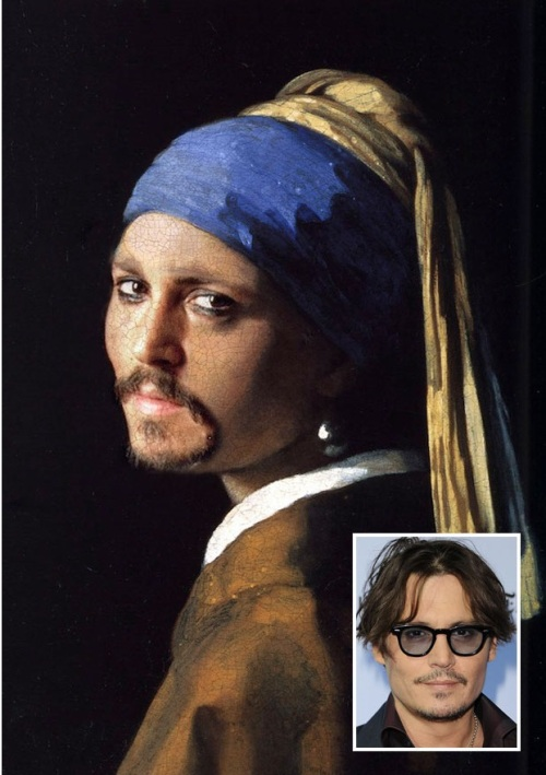 Johnny Depp - Girl With A Pearl Earring - Vermeer