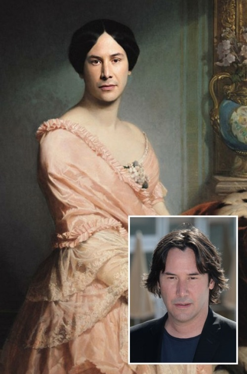 Keanu Reeves - Dubfe, Portrait of Madame F, 1850