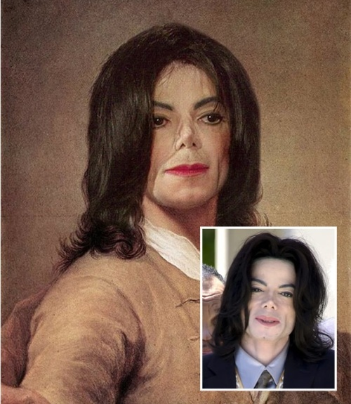 Michael Jackson as Anton Raphael Mengs' Self Portrait