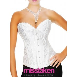 WHITE RIBBON DETAIL CORSET : R550