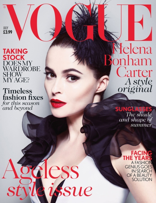 Helena Bonham Carter on the cover of Vogue - Ageless Style Issue