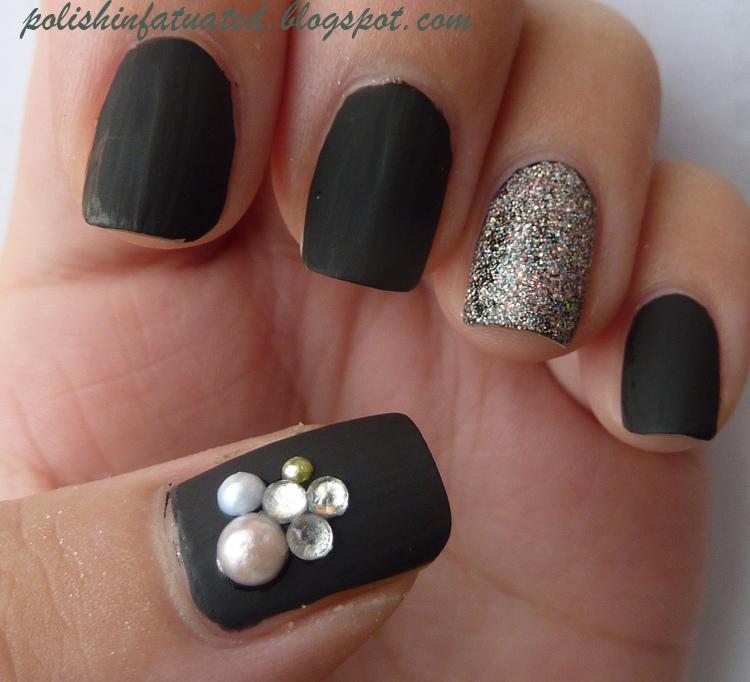 Famous Designs With Black Nail Polish Image Model - Nail Art Ideas ...
