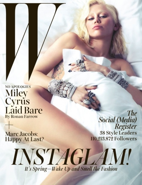 Miley Covers W Magazine