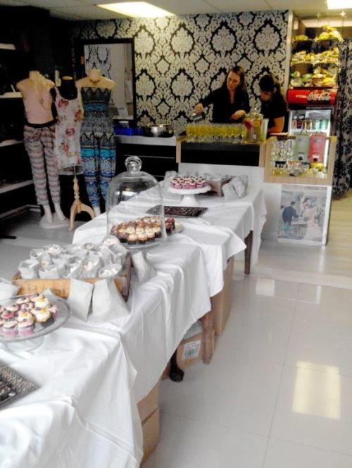 Sugar Plum Boutique with gorgeous In All Honesty treats (gluten, sugar and egg free) to eat at the launch
