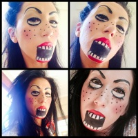 #HALLOWEEN DOLL - MAKEUP