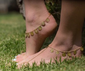 Gold Coin Gypsy Shoes available in sizes 3 - 8 R150