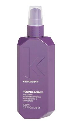 Noteworthy styling treatment serum from Kevin Murphy containing Argan Oil, the Young Again Imortelle Argan Oil.